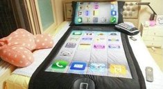 Betthupferl: Das iPhone-Bett