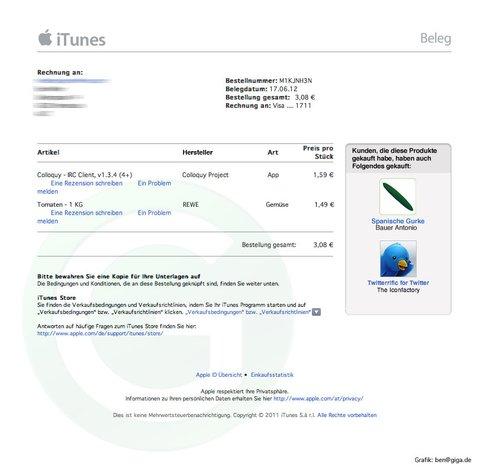 Die iTunes-Belege der Zukunft (Dramatisierung)