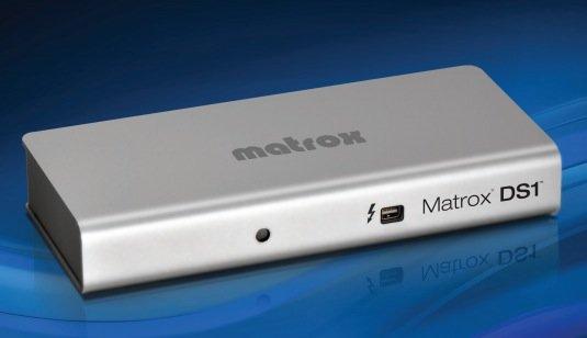 Matrox DS1: Thunderbolt-Docking Station gibt Mac weitere Anschlüsse