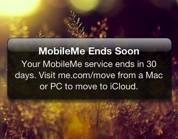 MobileMe nur noch bis Ende des Monats - iPhones zeigen Warnmeldungen