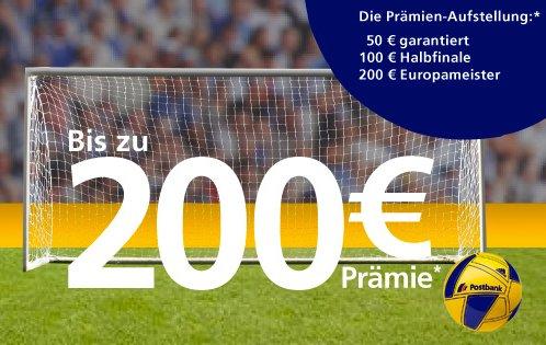 Kostenloses Girokonto mit bis zu 200 Euro Prämie von der Postbank