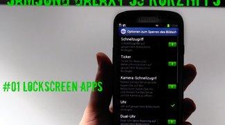 Samsung Galaxy S3 Tipps - Lockscreen Apps