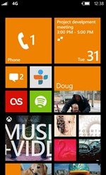 Windows Phone Startbildschirm