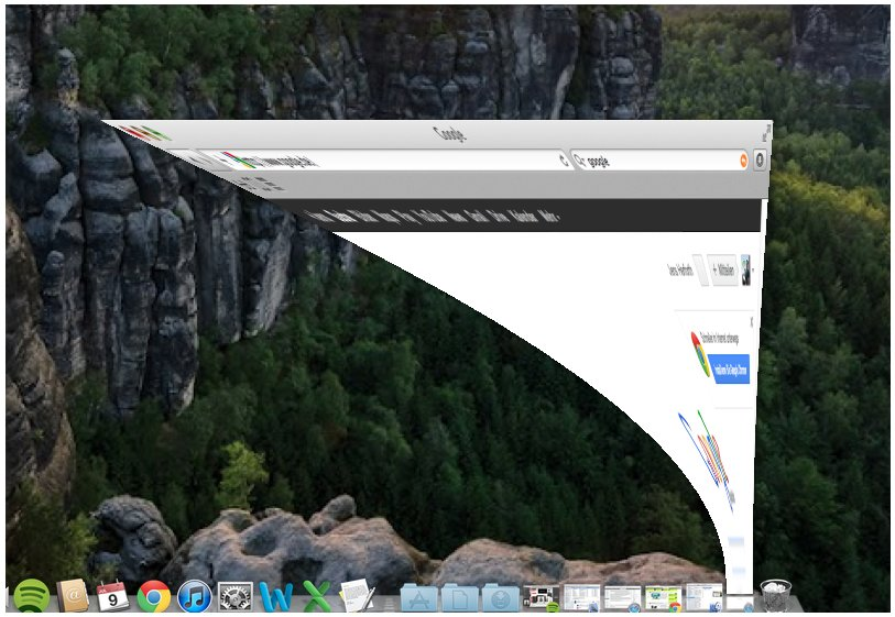 Mac OS X Zoom out