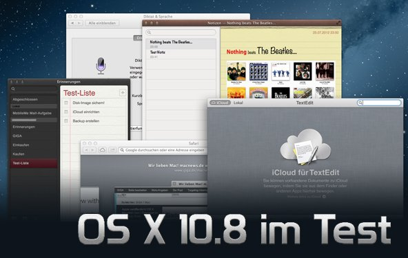 OS X 10.8 Mountain Lion im Test