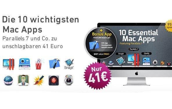 Parallels Desktop 7 und 9 weitere Apps im Bundle für 41 Euro