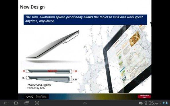 Sony Xperia Tablet: 9,4 Zoll und Quad-Core Prozessor