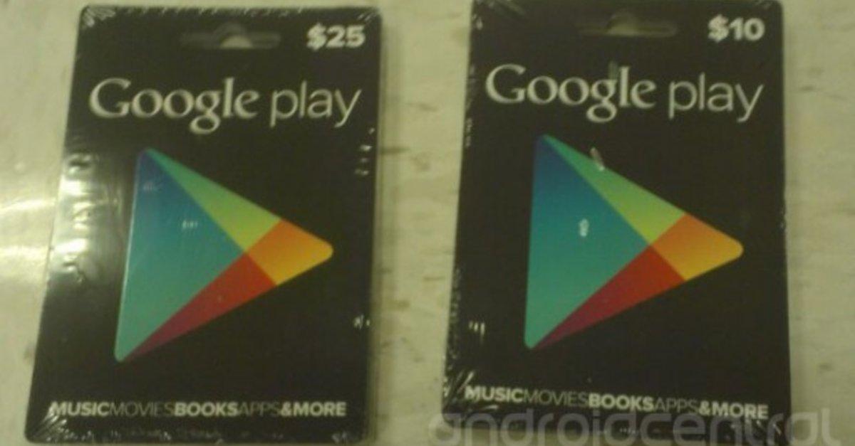 google play store cadeaubon