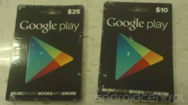 Google Play Store: Guthabenkarten zeigen sich