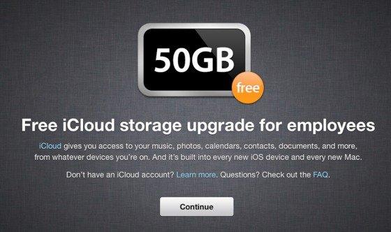 iCloud: Apple-Mitarbeiter erhalten 50 Gigabyte Gratis-Speicher