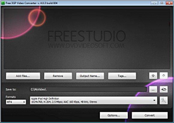 Free 3GP Video Converter Oberfläche