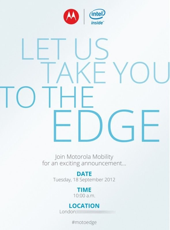 Motorola Einladung