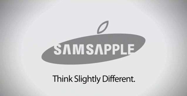 Parodie: Samsapple - think slightly different