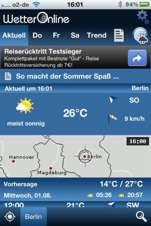 Wetter App Kostenlos