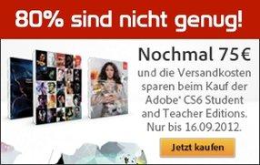 Adobe Back to School: 75 Euro Rabatt und versandkostenfrei