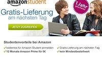 Amazon-Versand kostenlos am nächsten Tag (für Studenten)