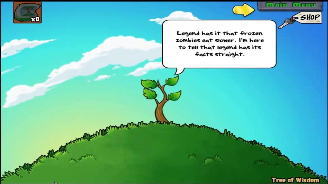 Pflanzen Gegen Zombies Baum Der Weisheit Bei Giga