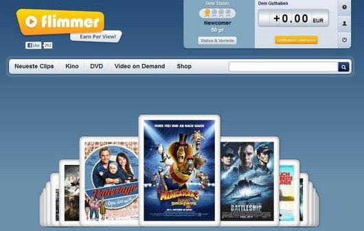 flimmer.de: Film-Trailer ansehen, und auch noch Geld dafür bekommen