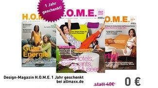 Design-Magazin H.O.M.E. 1 Jahr geschenkt (Abo endet automatisch)