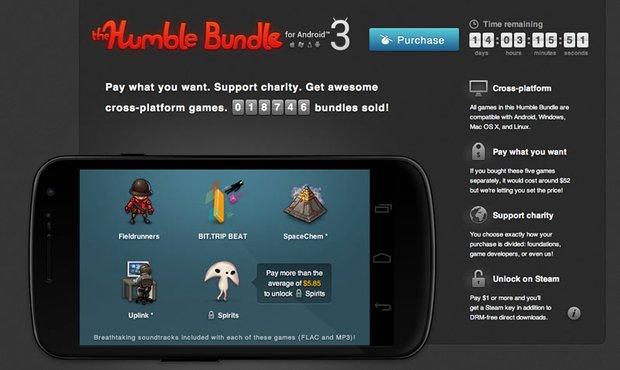 Humble Bundle für Android 3: Zahlt, was Ihr wollt