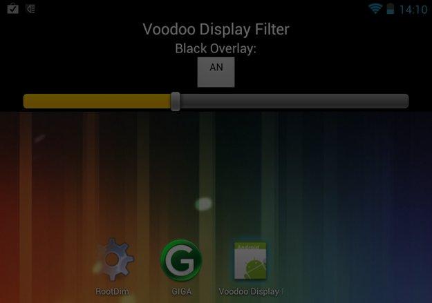 Dunklere Display Helligkeit dank Root
