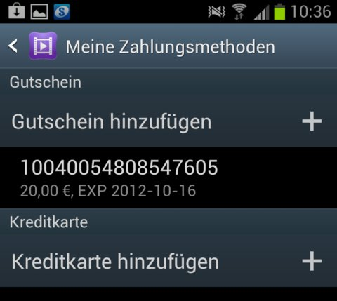 Samsung Video Hub Gutschein