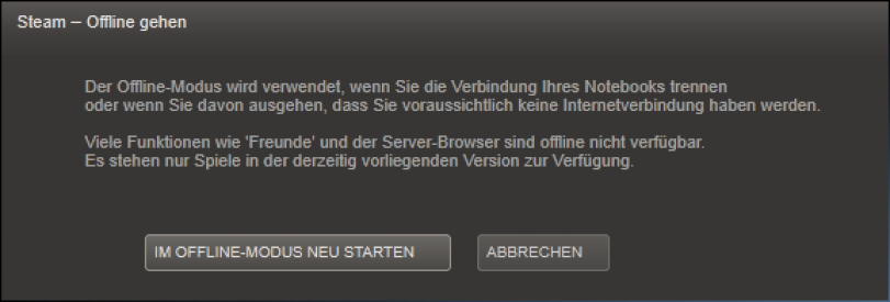 Steam Offline Modus Aktivieren Ohne Internet Spielen GIGA - Minecraft offline spielen geht nicht