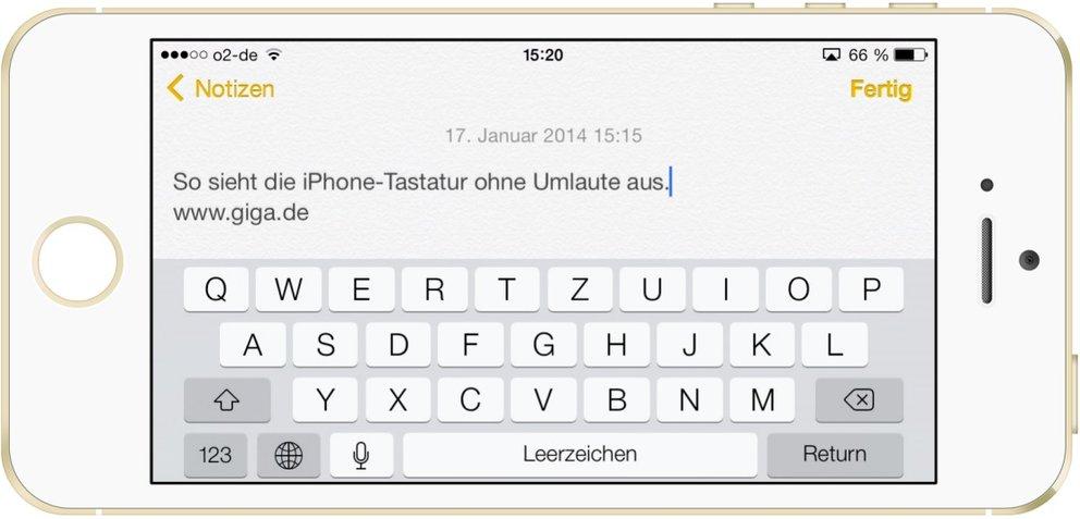 Umlaute auf iPhone/iPad ausblenden