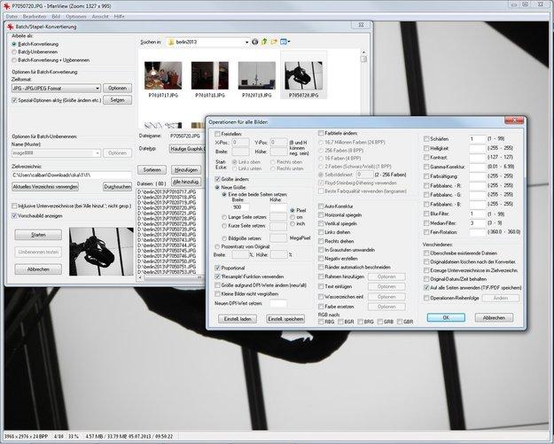 Mit IrfanView Bilder verkleinern - eine genaue Anleitung