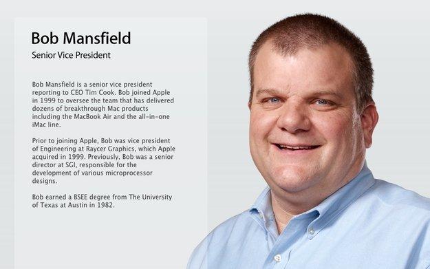 Apple: Bob Mansfield bleibt Senior Vice President - ohne Zuständigkeitsbereich