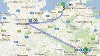 Deutsche Bahn auf Google Maps - leider unbrauchbar