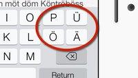 iPad-/iPhone-Tastatur: Umlaute anzeigen und ausblenden