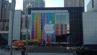 iPhone-5-Event: Apple-Logo schon auf Fassade des Yerba Buena Center