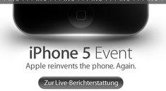 iPhone 5: Live-Ticker und Live-Show zum Apple-Event ab 18:30 Uhr