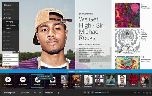 Myspace strikes back: Neues Design, neues Konzept