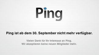 Ping: Apple stellt den Dienst am 30. September ein