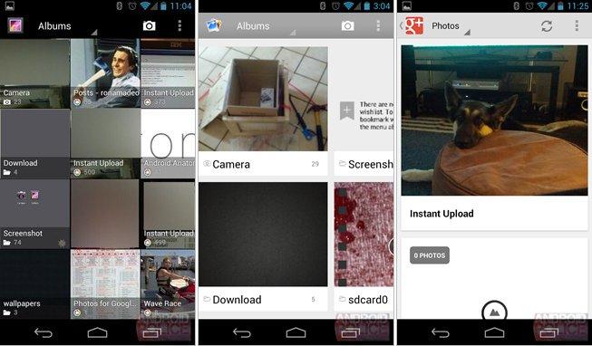 Android 4.2 Galerie Vergleich