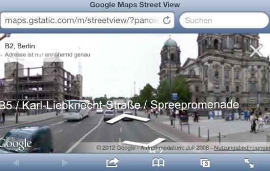 Google Maps bietet Street View jetzt wieder für iOS-Geräte