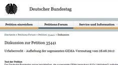 Anti-GEMA-Petition: Nur noch bis morgen unterzeichnen