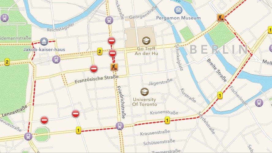 Stau Karte.Apple Karten Stau Und Verkehrsinfos In Ios 7 Einschalten