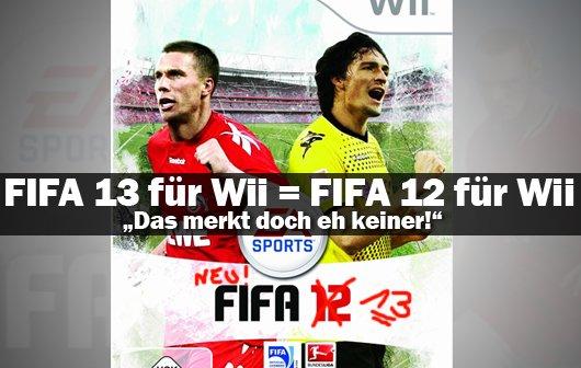 FIFA 13 Wii Eklat: Gleiches Spiel - neue Nummer