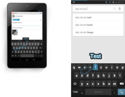 Android 4.2 Tastatur