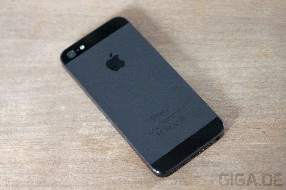 Rückseite des graphit-schwarzen iPhone 5