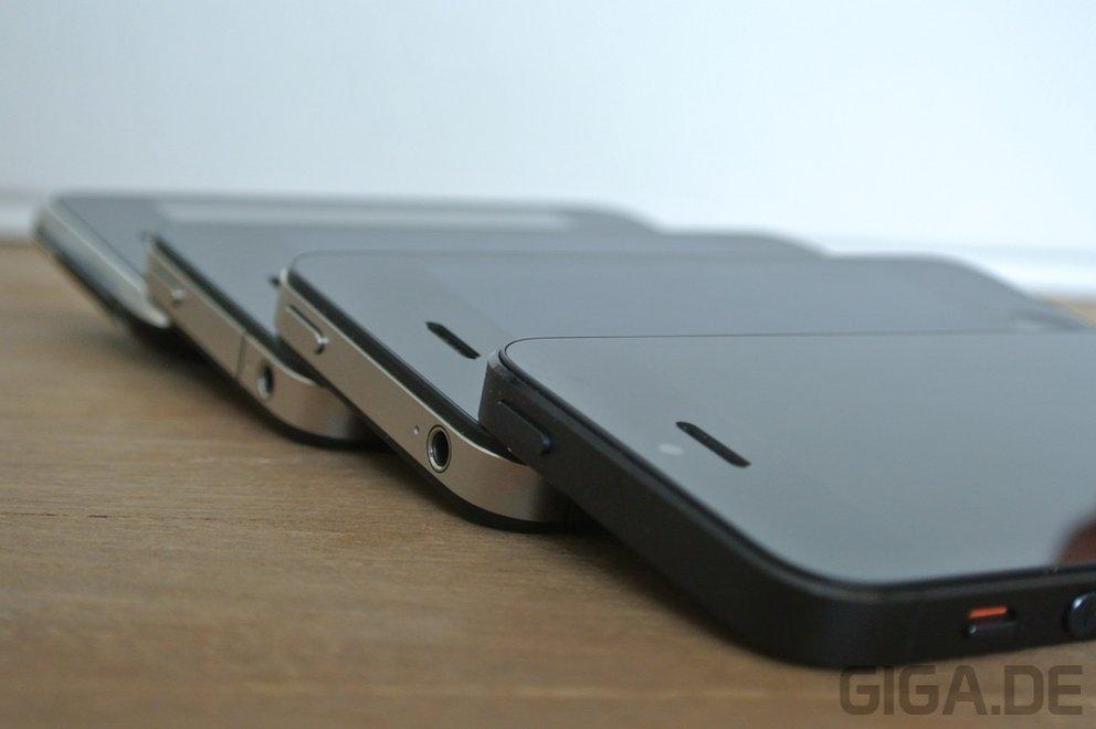 iPhone 5 - Vergleich Bauweise