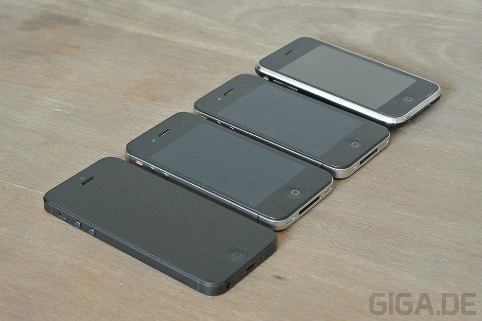 iPhone 5 - Generationen-Vergleich