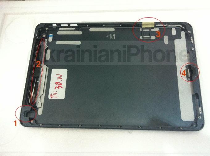 Angebliche iPad Mini Gehäuse-Rückseite