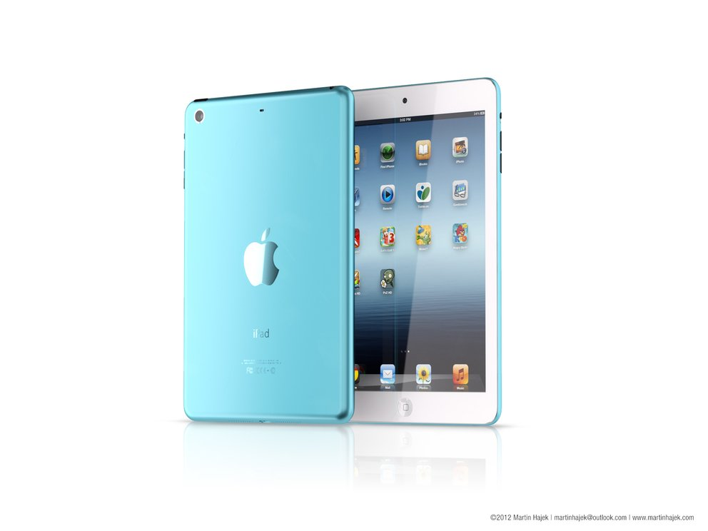 "iPad Mini Rendering ""cool blue"""