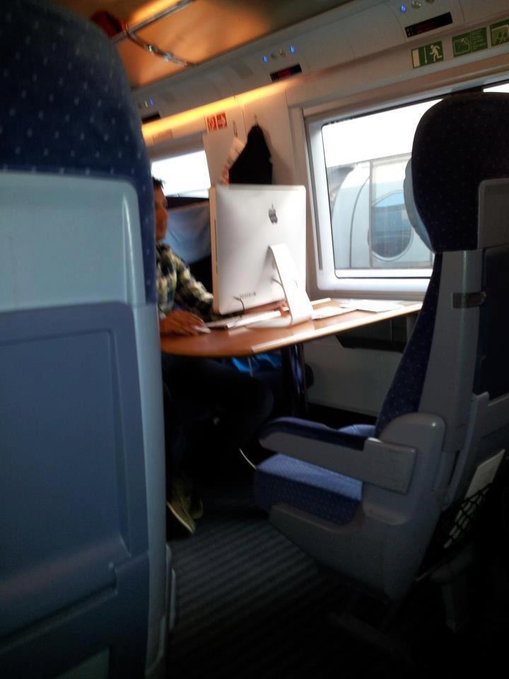 iMac im Zug