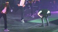 Justin Bieber kotzt auf die Bühne (Video)