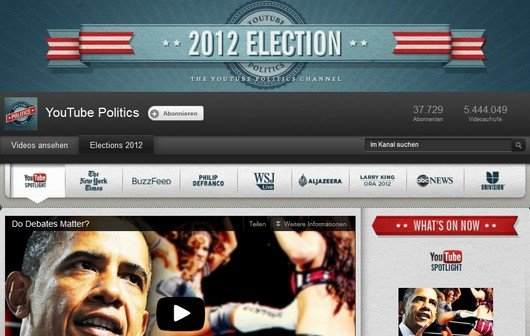 Obama vs. Romney im Live-Stream: YouTube zeigt die Presidential Debates